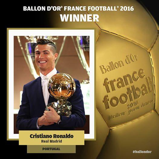 البرتغالي كريستيانو رونالدو نجم ريال مدريد أفضل لاعب بالعالم للمرة الرابعة