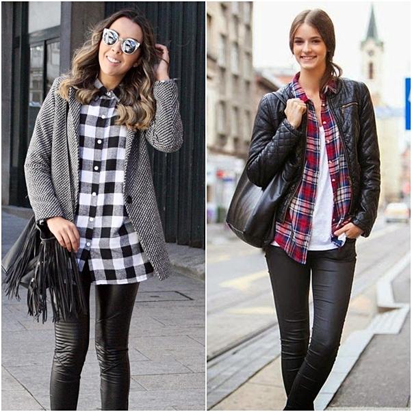 estampas inverno - xadrez com calca e blazer