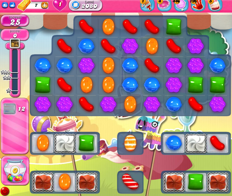 Candy Crush Saga level 2080