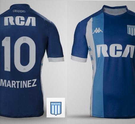 Camiseta kappa alternativa Racing Club 2018. Bianco 268ae56495343