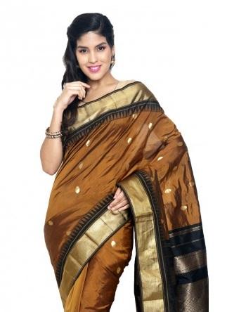Brown Kanchipuram Saree