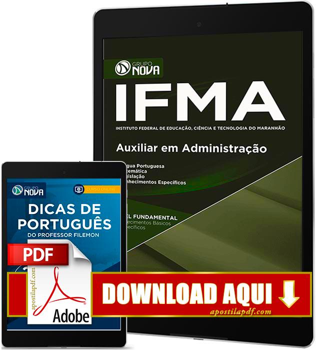 Apostila IFMA 2016 PDF Download Auxiliar em Administração