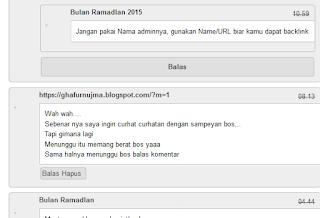 Bersih bersih Komentar Blogger Newbie Bulan Ramadlan CS