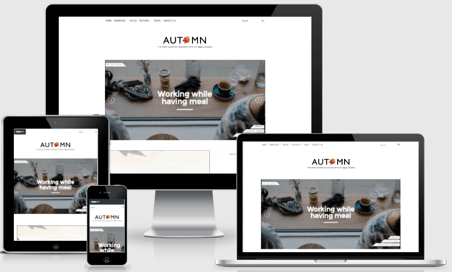 Download Autumn Personal Responsive Blogger Template