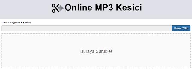 Online MP3 Kesme Sitesi