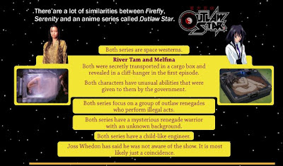 similarities between Firefly and Outlaw Star