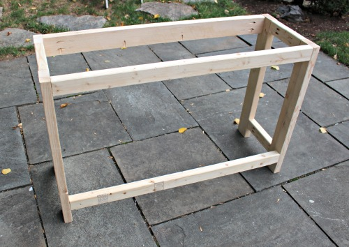diy lemonade stand frame