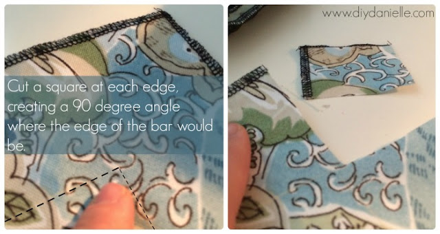 How to make the edges for a fitted tablecloth.