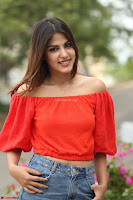 Rhea Chakraborty in Red Crop Top and Denim Shorts Spicy Pics ~  Exclusive 222.JPG