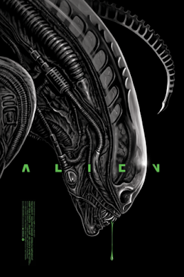 Alien Movie Poster Screen Print by Ghoulish Gary Pullin x Grey Matter Art