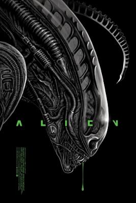Alien Movie Poster Screen Print by Ghoulish Gary Pullin x Grey Matter Art