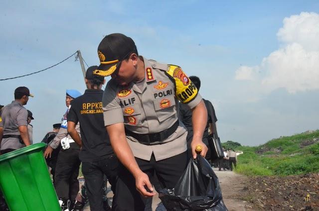 Kapolresta Tangerang Peringati HPSN Dengan Goro Massal