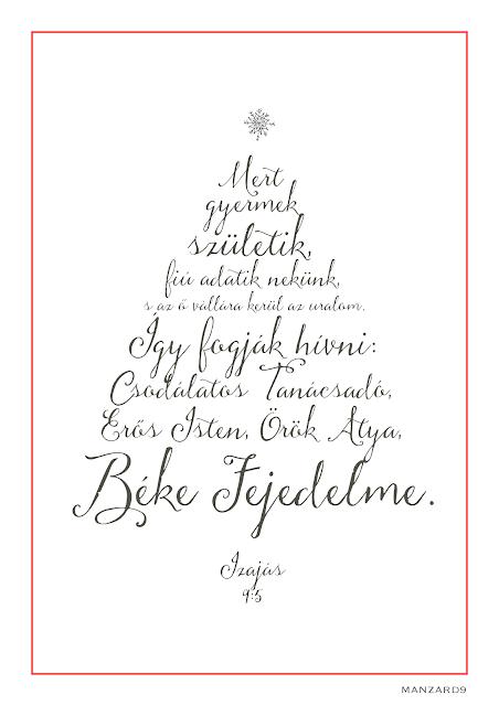 """""""Mert gyermek születik..."""" karácsonyi ige - printlehető I Manzard9"""