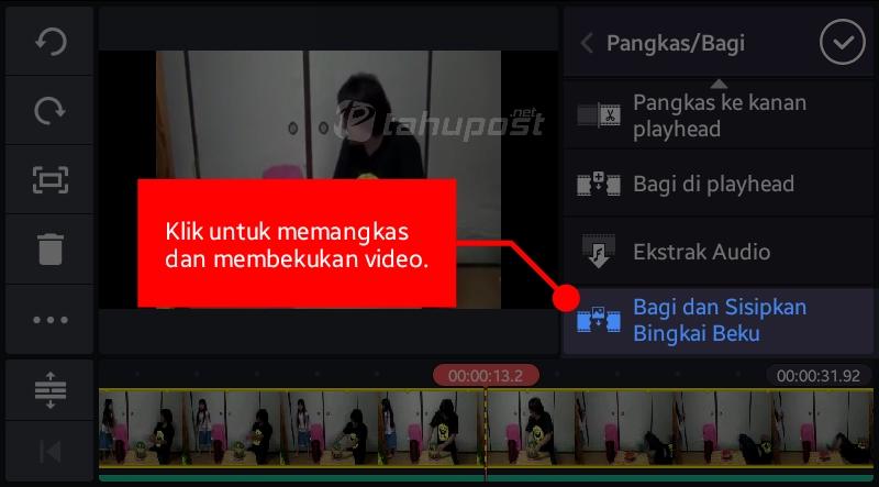 Cara Membekukan dan Memangkas Video di KineMaster