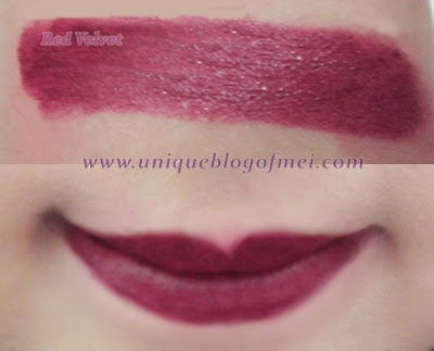 Glam Rock Vampire's Kiss in Red Velvet swatches