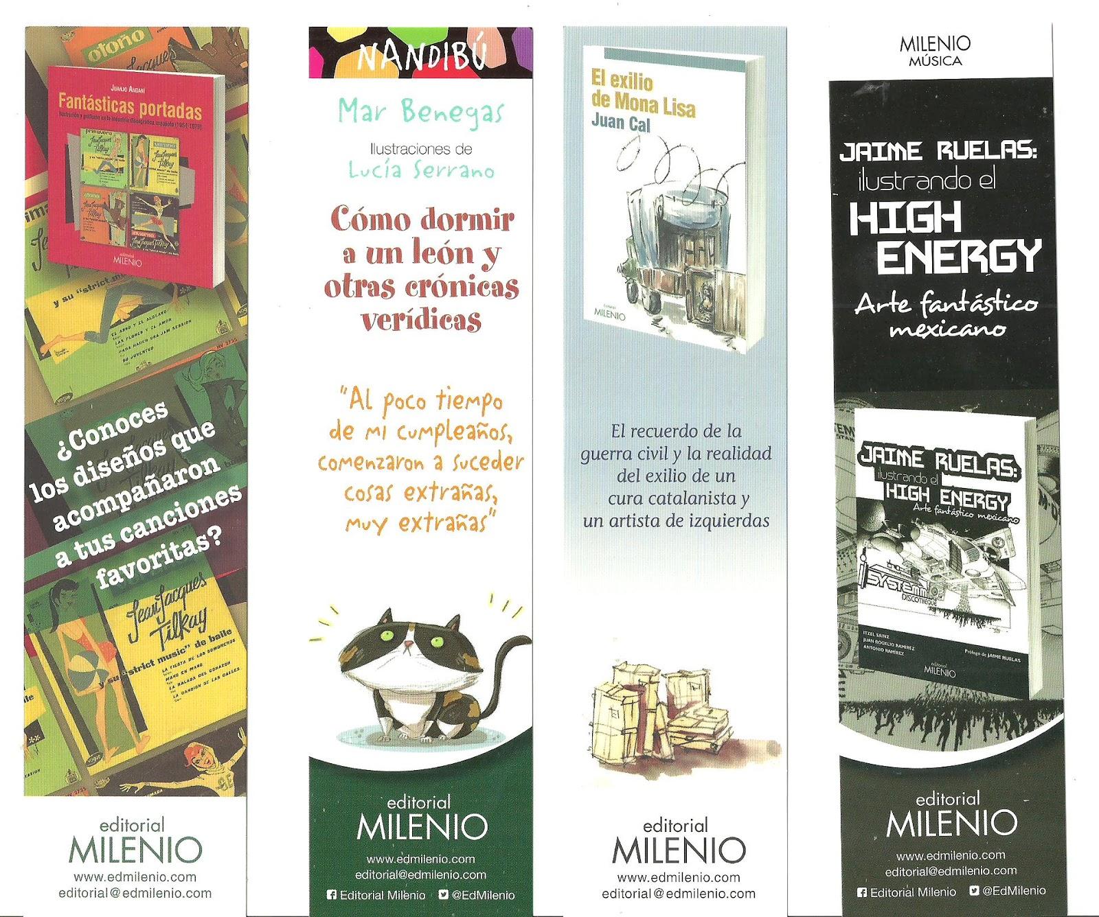 Els punts de llibre editorial milenio for Entradas 4 milenio