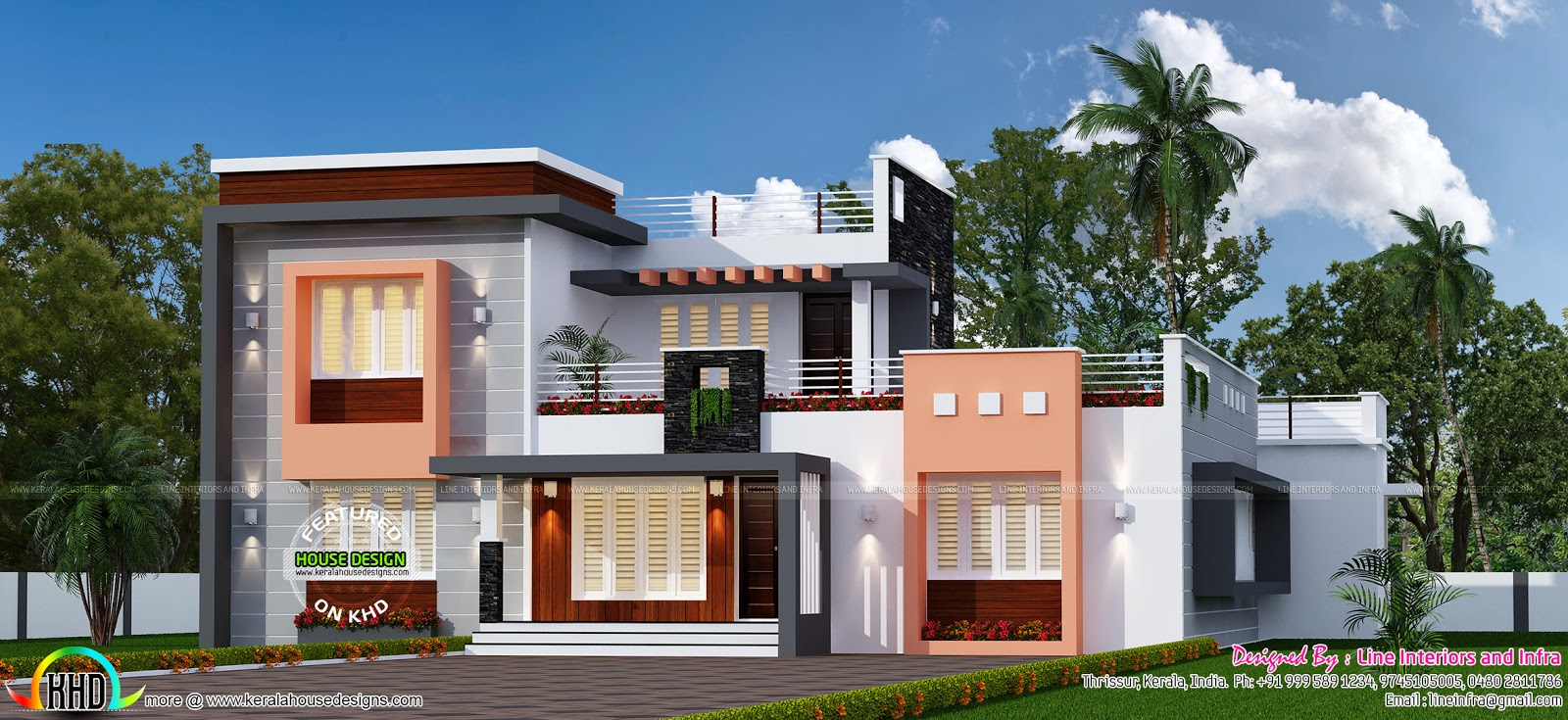 4 bhk 2150 sq ft modern house kerala home design and for 4 bhk home design