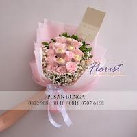 jual bouquet mawar coklat, toko bunga dijakarta utara, kirim bouquet mawar murah