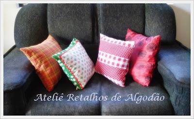 Almofadas natalinas em patchwork