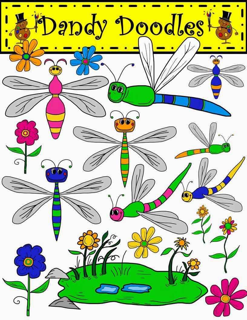 https://www.teacherspayteachers.com/Product/Dragonflies-and-Daisies-Clip-Art-by-Dandy-Doodles-1671799