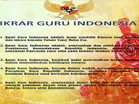 Download Contoh Banner Ikrar Guru Indonesia Desain Percetakan Modern