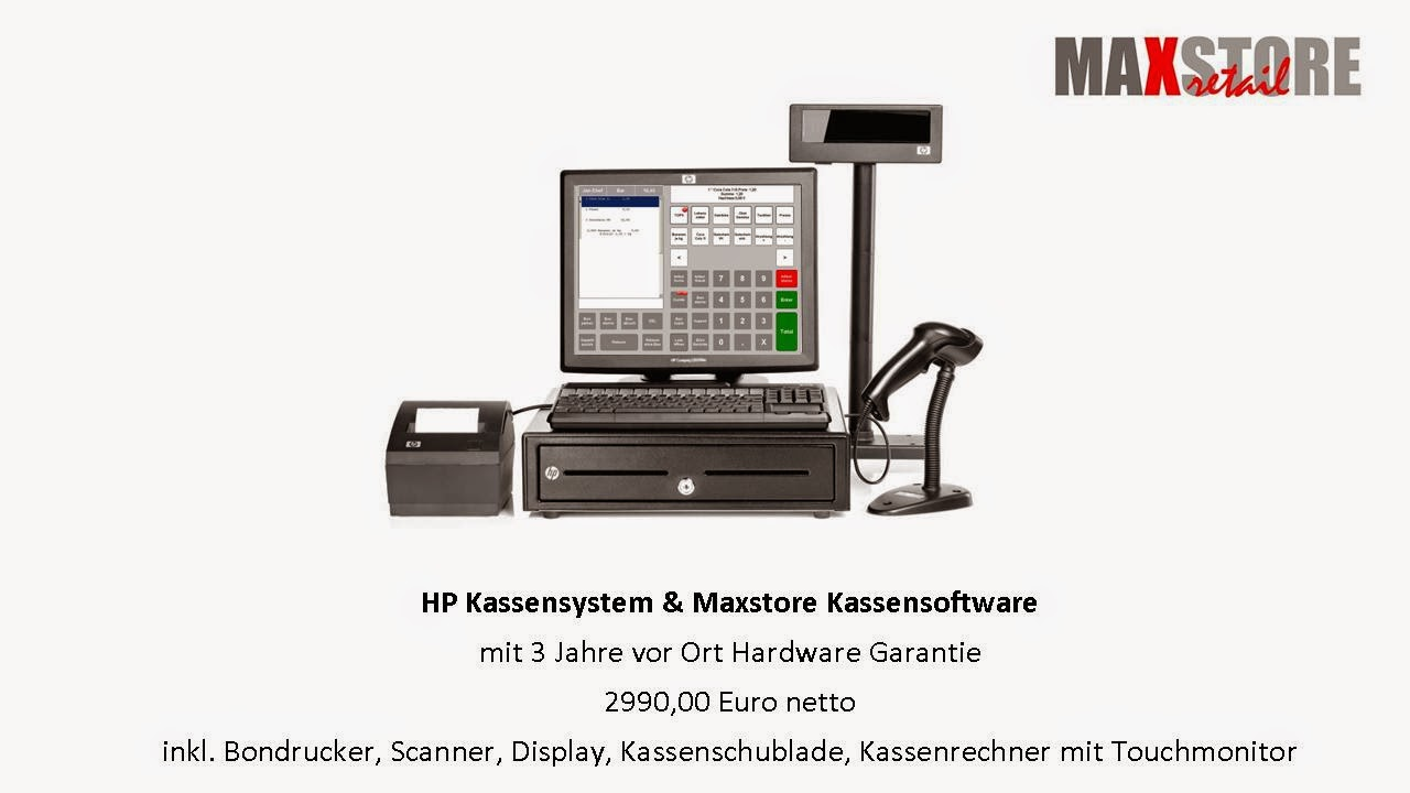HP Kassensysteme, Maxstore Kassensystem Handel