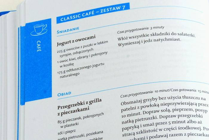 Przykładowe przepisy z fazy Cafe
