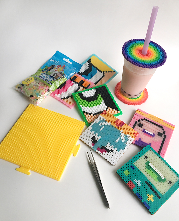 collagepdx: DIY: Perler Bead Coasters