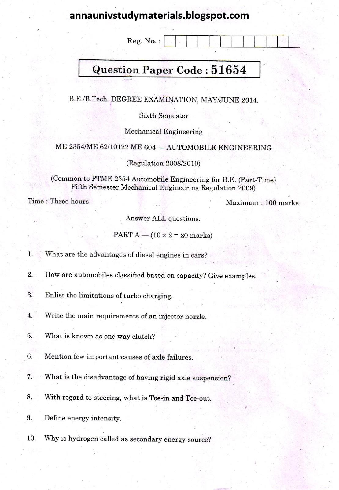 Me6602 Automobile Engineering Notes Pdf Gastronomia Y Viajes