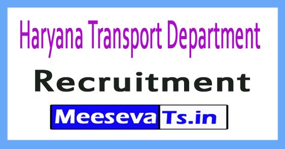 Haryana Transport Department Recruitment