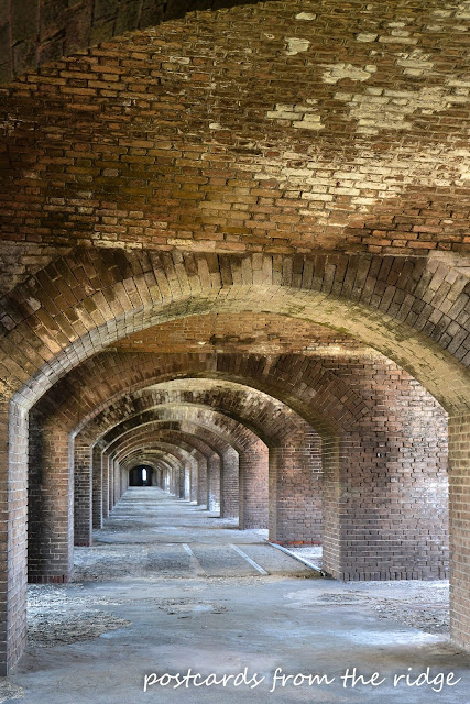 Brick arches at Fort Jefferson, Dry Tortugas National Park, Florida Keys