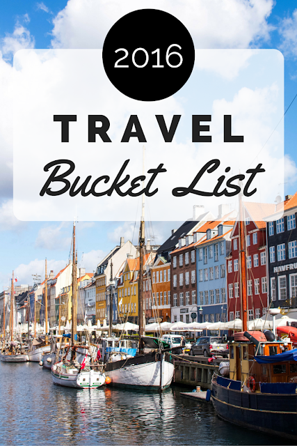 2016 Travel Bucket List | Adelante