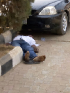 Dead body sighted at limpet Fuel station Osisioma aba Today