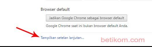 Pengaturan Google Chrome