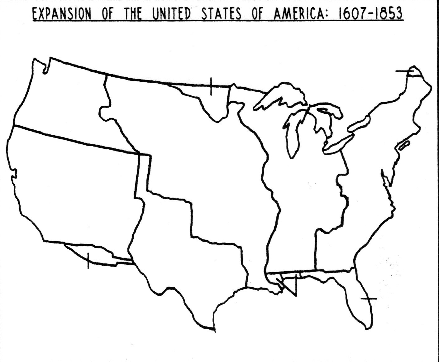 Outline Map United States Expansion