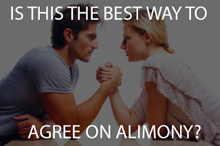 Couple Arm Wrestling: Is this the best way to Agree on Alimony?