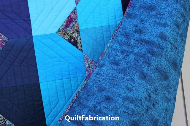 Summer Ocean quilt backing