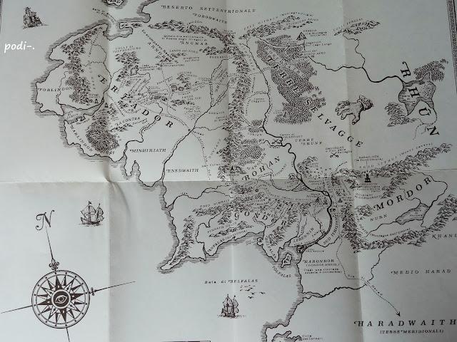 mappa della contea, mordor, le terre selvaggi, rohan