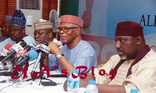 Ajimobi, Ganduje, Okorocha meet state APC chairs to stop Oyegun