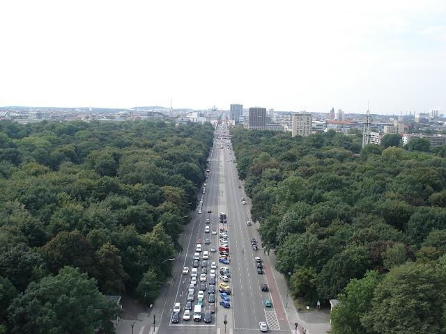 Siegessäule ou Victory Column - vista do Tiergarten do alto da torre.