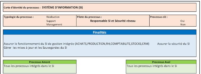 Exemple Fiche de Processus SI (Approche processus & Risque) [.xls]