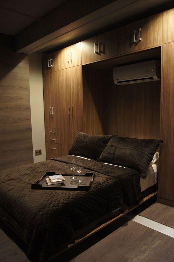 +40 Space saving bedroom furniture - Overbed wardrobe ...