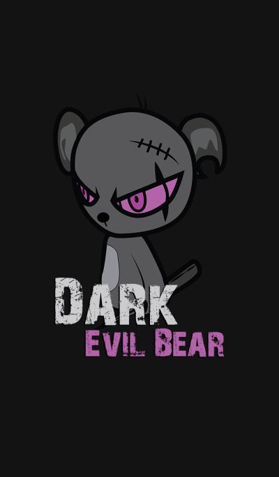 Dark Evil Bear Violet