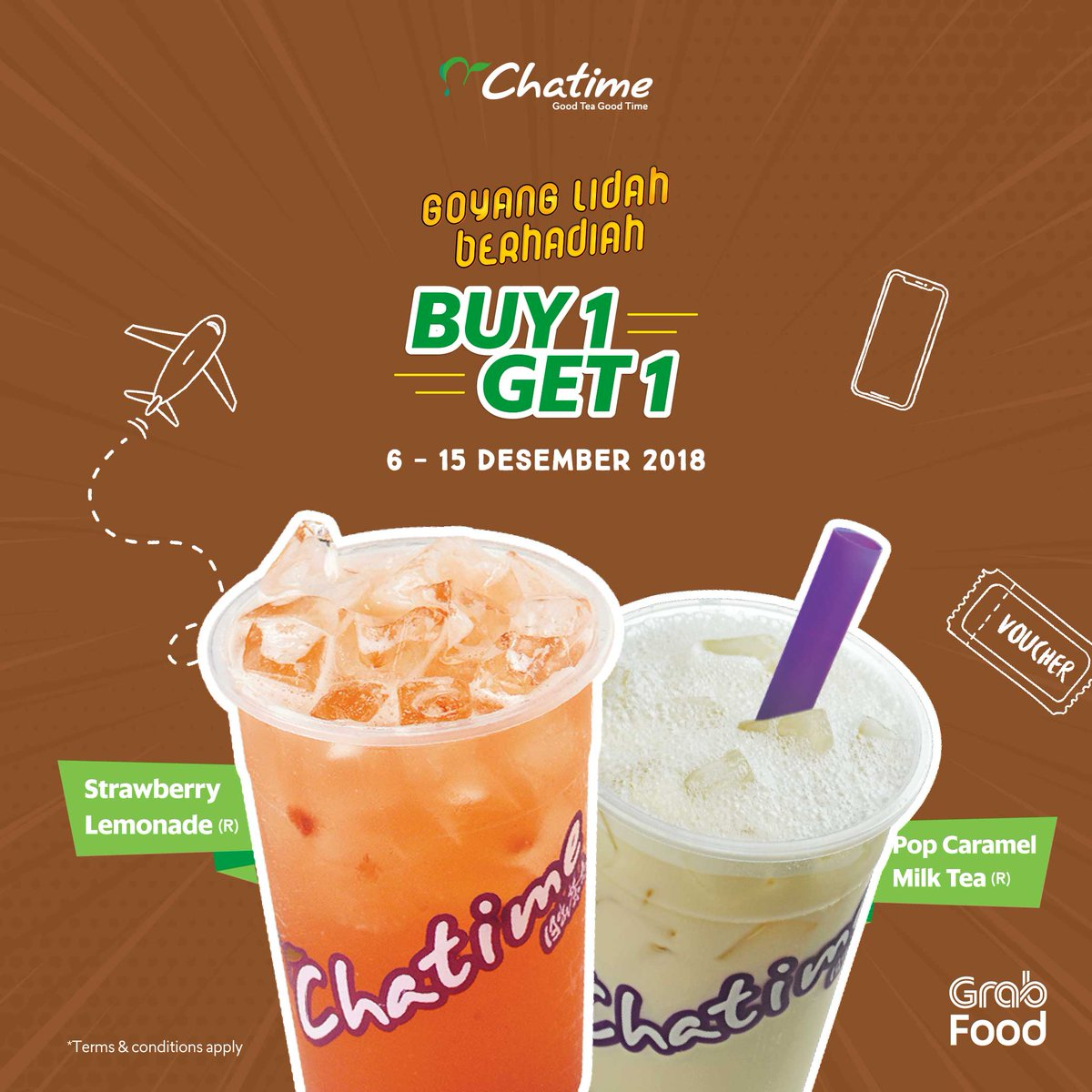 Chatime - Promo Buy 1 Get 1 Pakai GOFOOD (s.d 15 Des 2018)