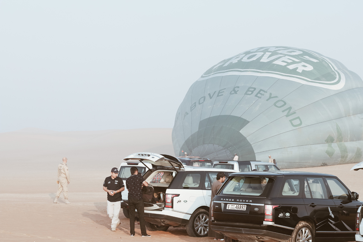 hot air balloon experience in Dubai