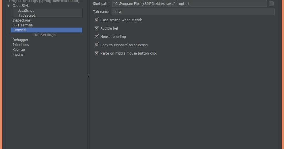 Git bash in IntelliJ IDEA on Windows ~ Codeleak pl