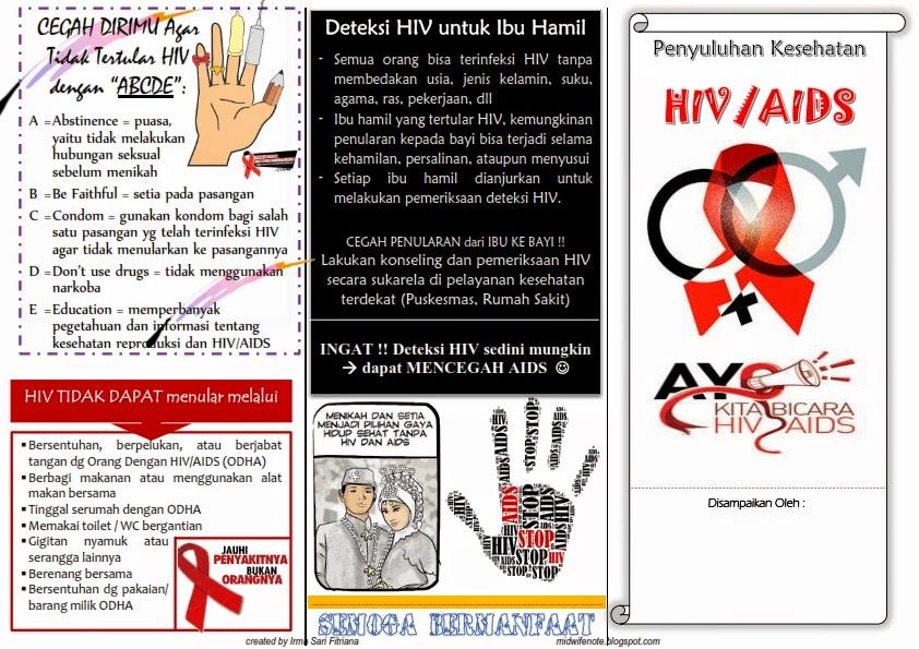 Kumpulan Materi Kebidanan Leaflet Hiv Aids