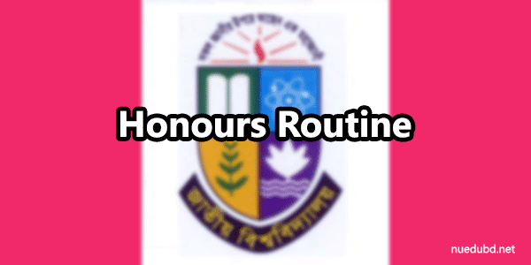 NU Honours 3rd year routine 2016