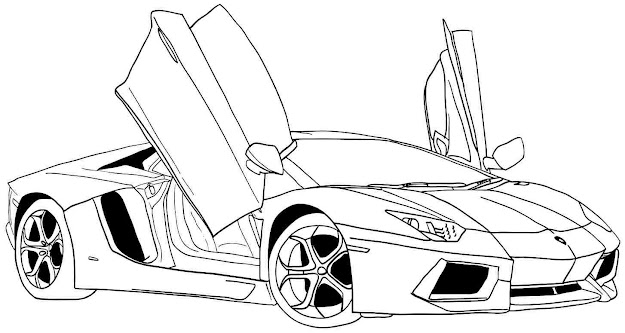 Sports Car Colouring Pages To Print