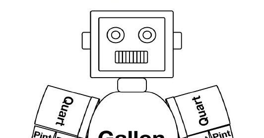 photo about Gallon Bot Printable titled Schooling Globe: Gallon Gentleman Mr Gallon Guy Template. Gallon